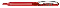 Ручка шариковая пластиковая Senator New Spring Clear Clip Metal, прозрачная красная / серебристая фото