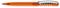 Ручка шариковая пластиковая Senator New Spring Clear Clip Metal, прозрачная оранжевая / серебристая фото