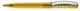 Ручка шариковая пластиковая Senator New Spring Clear Clip Metal, прозрачная желтая / серебристая